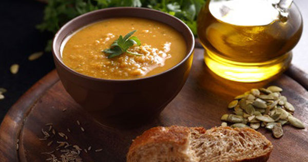 Lentil Soup and Bread