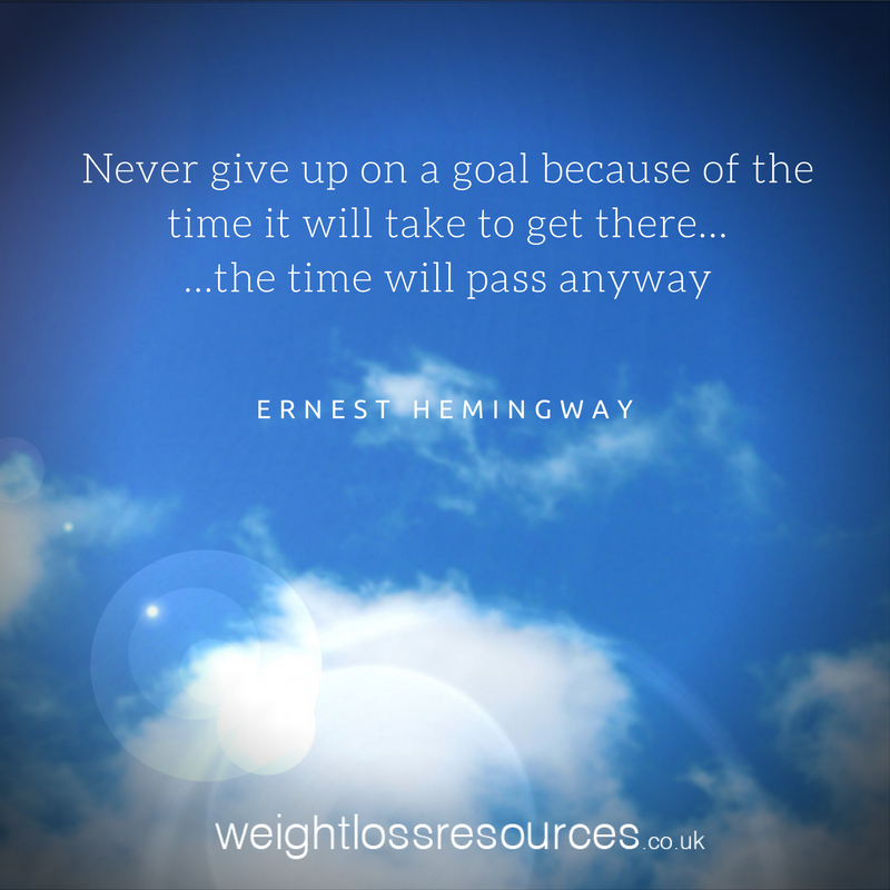 Never give up on a goal quote