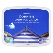 Waitrose, Cornish Dairy with Clotted Cream, Vanilla Ice Cream