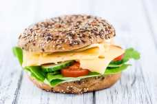 Cheese and Salad Bagel - Weight Loss Resources - Lunch Day 4