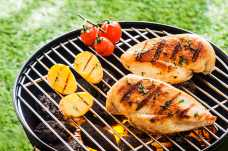 Chicken Breast with Potatoes on the Barbeque - Weight Loss Resources