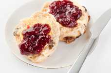 Wholemeal Fruit Scone with Raspberry Jam - Weight Loss Resources
