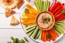 Houmous with Vegetable Crudites and Pitta Bread - Weight Loss Resources