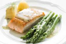 Salmon, New Potatoes and Asparagus - Weight Loss Resources - Dinner Day 4
