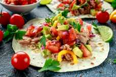 Tuna, Avocado and Salad Tortilla - Weight Loss Resources