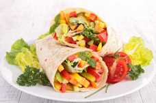 Vegetable and Houmous Wraps - Weight Loss Resources