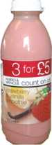 Marks & Spencer Count On Us Strawberry & Vanilla Smoothie