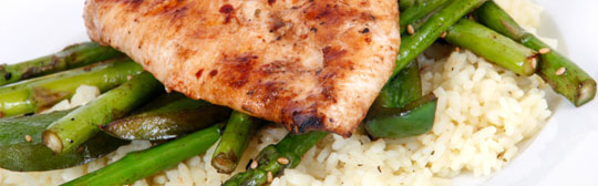 Asparagus with Chicken & Rice Salad Recipe