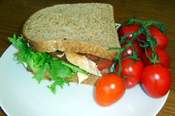 Chicken and Plum Sandwich