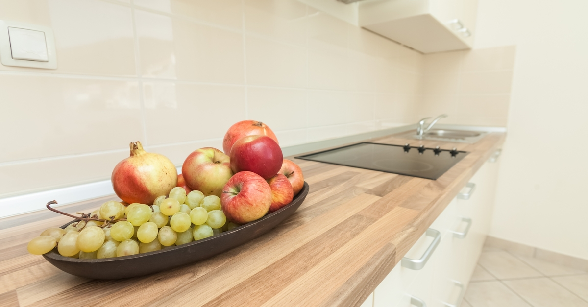 Fruit Bowl on Kitchen Counter