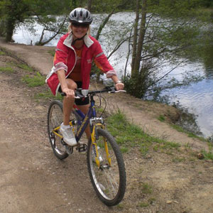 Collette enjoys cycling at weekends