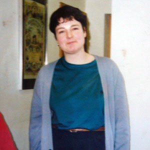 Deborah at her top non pregnant weight - around 16 stone - in 1991