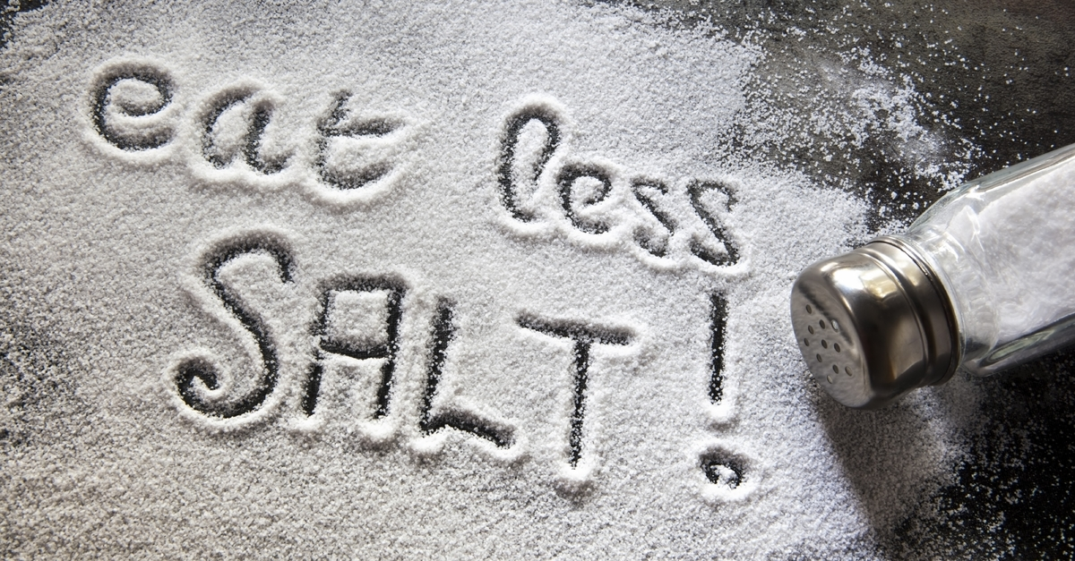Eat less salt to prevent puffiness from water retention