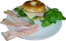 Ham and Cheese Bagel