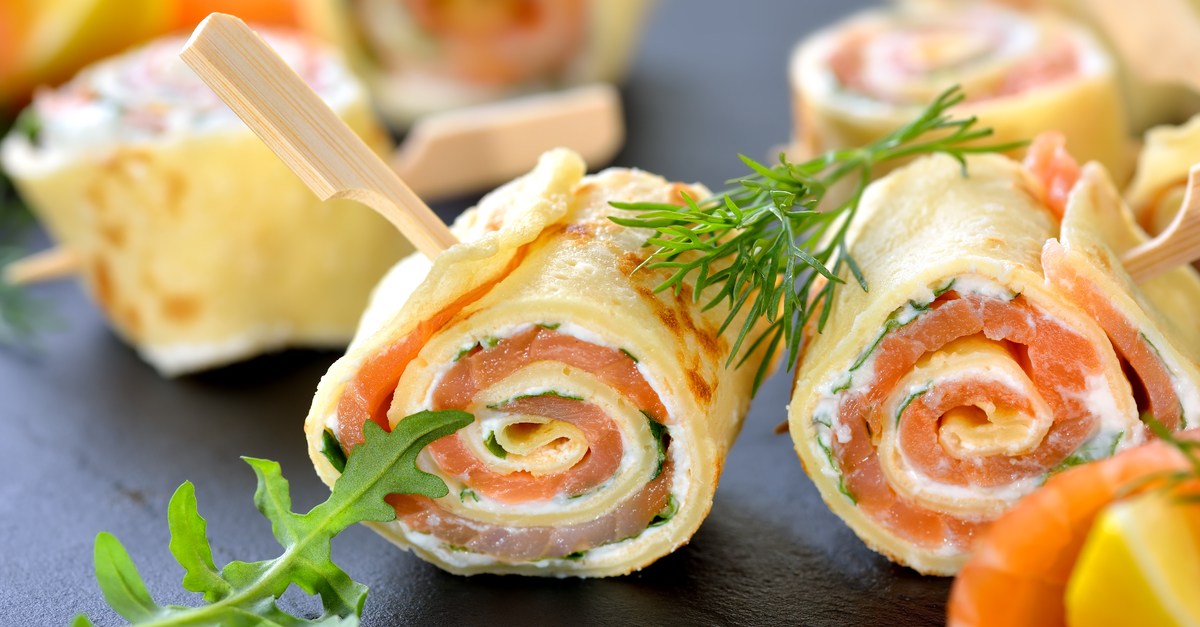 Salmon and Cream Cheese Pancake Filling