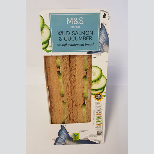 M&S Wild Salmon & Cucumber Sandwich