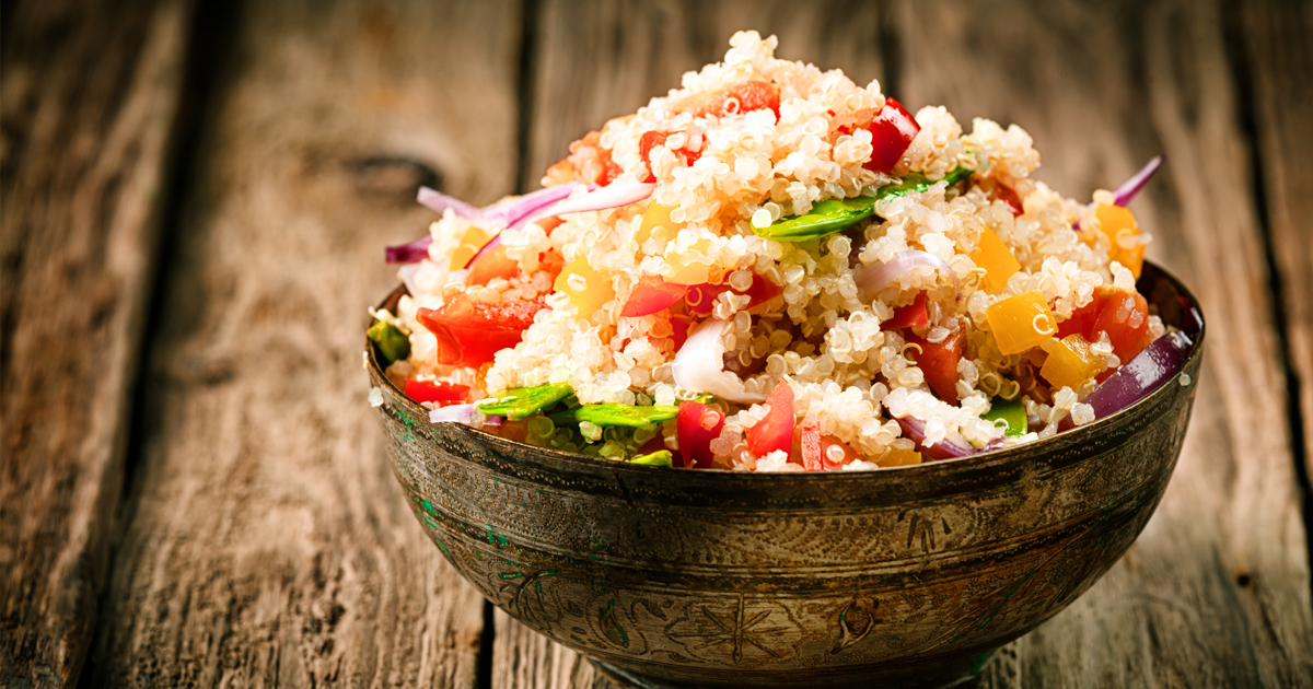 Quinoa contains all the essential amino acids in one neat and versatile package.