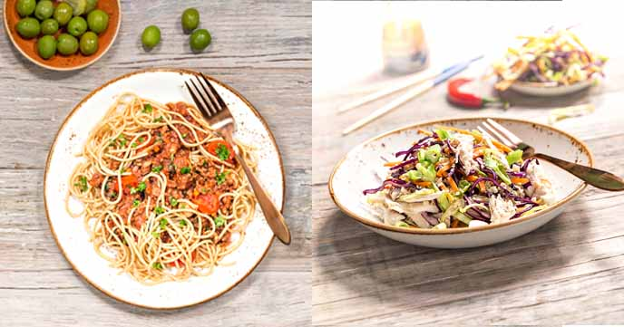 Live Clean from Muscle Food - Spag Bol and Chicken Kim Chi