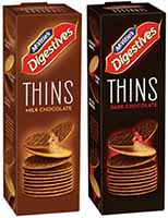 McVities Digestives Thins - Milk and Dark Image