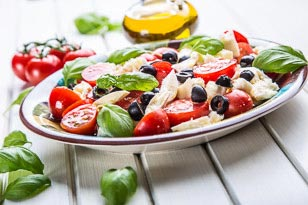 Mozzarella and Tomato Caprese Salad