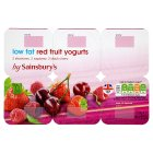 Sainsbury's Mixed Red Fruit Yogurt