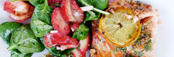 Salmon and Strawberry Salad