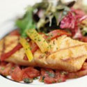 Griddled Salmon with Tomato Sauce