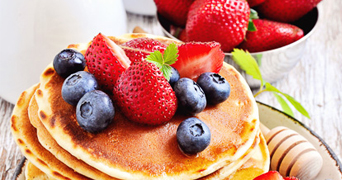 Tesco pancakes with blueberries and strawberries