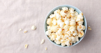 Sweet and salted popcorn in a bowl
