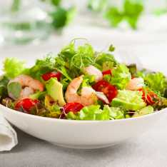 Fresh and Healthy Avocado Prawn Salad