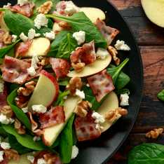Crispy Bacon, Apple and Walnut Salad