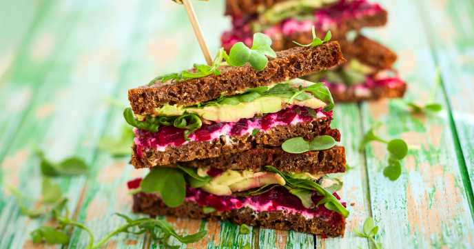 Beetroot, Avocado & Cheese Sandwich