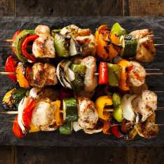 Juicy Chicken Skewers with Cous Cous
