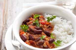Beef Chilli With Rice