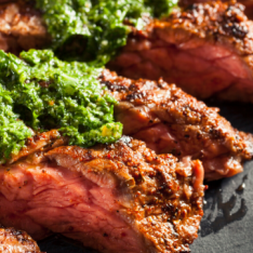 Vibrant Chimmichuri Steak