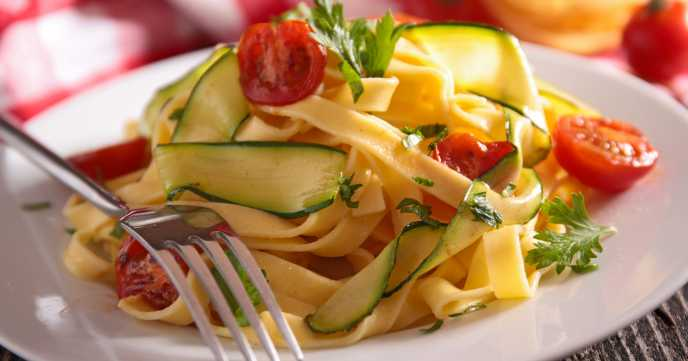 Courgette Tagliatelle with Langoustines Recipe