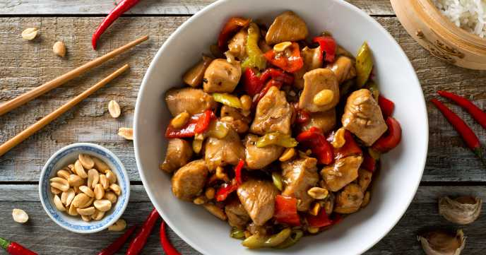 Kung Pao Chicken with Rice Recipe