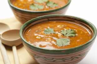Moroccan Soup in a Bowl