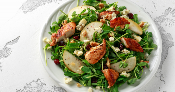 Pear, Chicken & Blue Cheese Salad