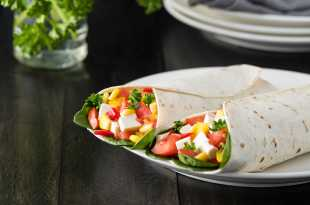 Wrap filled with Greek Salad