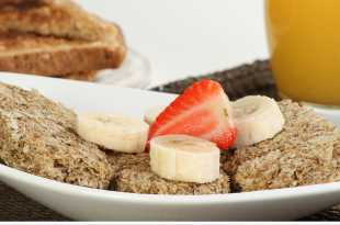 Weetabix with Banana and Strawberry