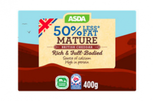ASDA 50% Less Fat Mature Cheddar Cheese