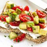 Toast with Avocado, Tomato and Cream Cheese