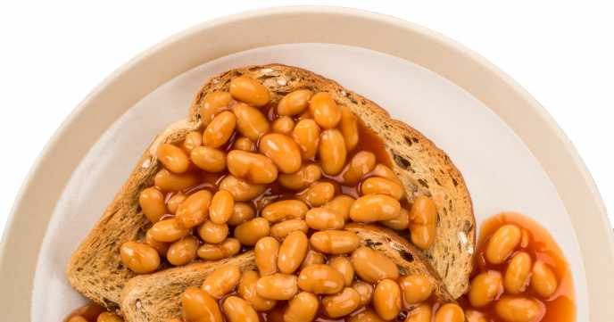 High Fibre Baked Beans with Wholemeal Toast