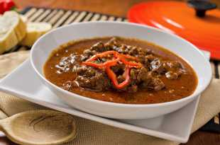 Hungarian Beef Goulash with Rice