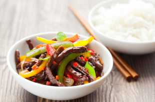 Beef Stir-Fry with Rice