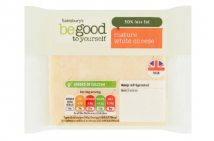 Sainsbury's Mature White Cheddar Cheese, Be Good To Yourself