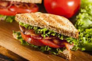 Toasted Bacon Lettuce and Tomato Sandwich