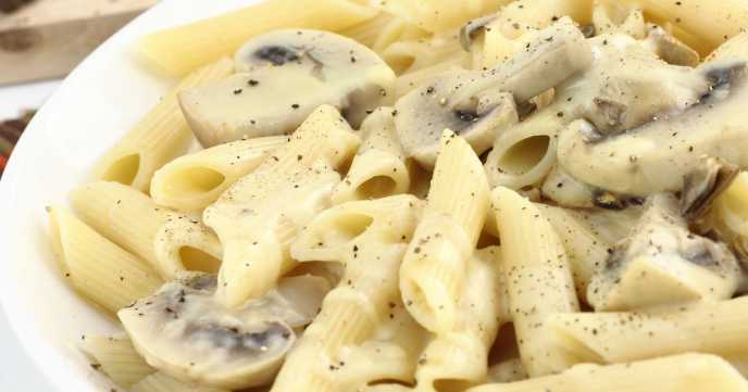 Penne With Light Creamy Mushroom Sauce Weight Loss Resources