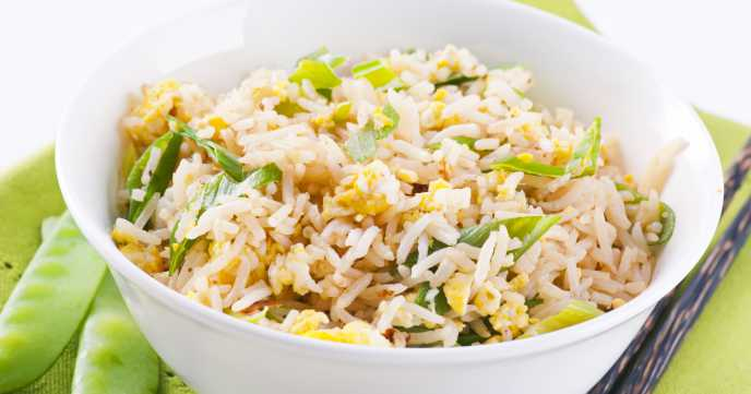 Egg Fried Rice with Spring Onion